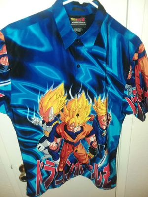 Dragon Ball Z button shirt size L for Sale in Clovis, CA