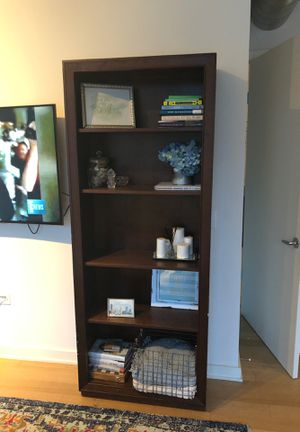 Two Walnut Crate and Barrel Bookshelves for Sale in Chicago, IL