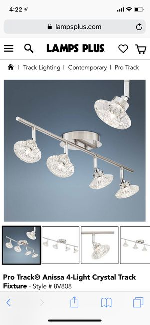 Track lights crystal for Sale in Danville, PA