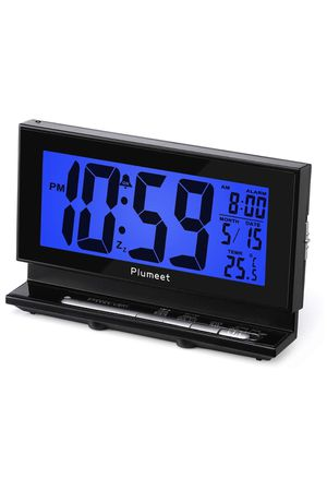 Brand-new!!! Auto-Night Light Clock, Digital Alarm Clock Large LCD Display with Low High Dimmer Backlight, Temperature, Calendar, Ascending Sound & S for Sale in Hialeah, FL
