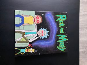 Rick and Morty painting for Sale in Chapel Hill, NC