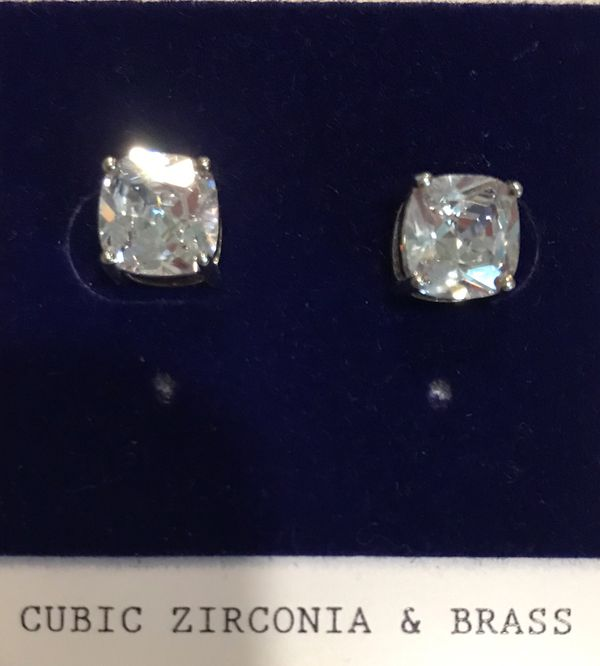 CZ earrings, new!