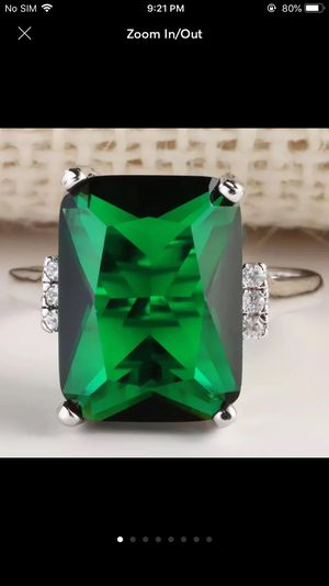 Sterling silver plated green ring for Sale in Spencerville, MD