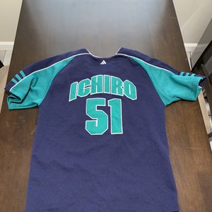 Youth Medium MLB Seattle Mariners Ichiro Adidas Jersey for Sale in Tampa, FL