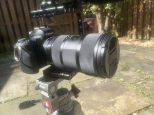 Canon M50 w/ Sigma 18-35mm lens, Rig with 4K field monitor, Mic & Tripod for Sale in Laurel, MD