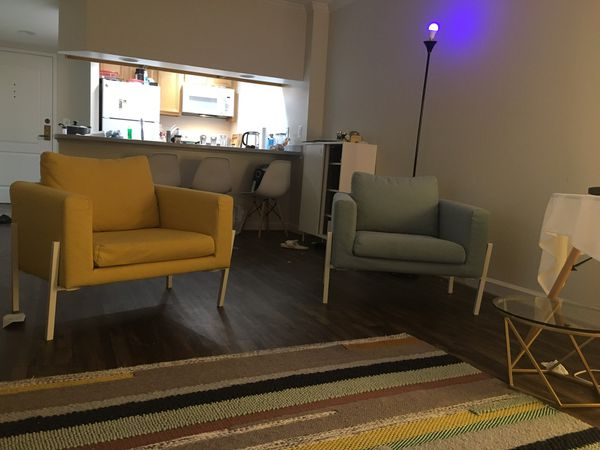 Sofa+two armchairs+2 coffee tables from Ikea
