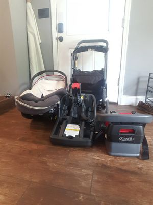 Graco car seat and stroller with 2 bases for Sale in Springfield, PA