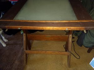 Antique lighted drafting table for Sale in College Grove, TN