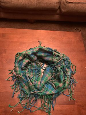 SO infinity scarf with fringe (blue, green, khaki) for Sale in Fontana, CA