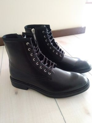 Calvin Klein Men's Black Leather Combat Boots Sz 11.5 for Sale in Fort Worth, TX
