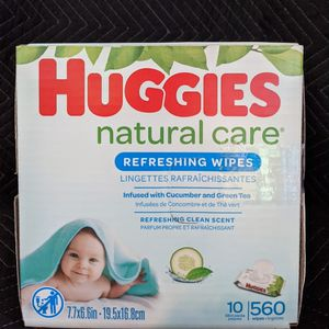 Huggies Natural Care Wipes Cucumber 560 Wipes for Sale in Long Beach, CA