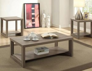 Crown Mark Audra Taupe 3-Piece Coffee Table Set for Sale in Hyattsville, MD