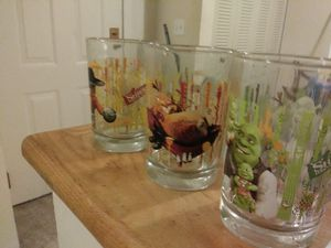 Collectable Shrek McDonald's glasses for Sale in Woburn, MA