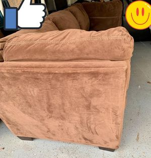 2 couch microfiber clean and good no pets. Deliver With extra fee for Sale in Brooks, OR