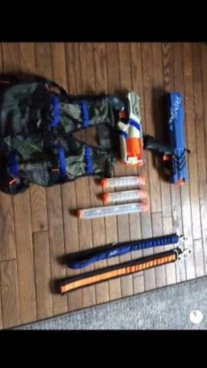 Nerf guns, ammo Vest and straps (No Ammo) for Sale in Epsom, NH