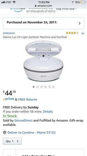 UV light sanitizer for Sale in Key Biscayne, FL