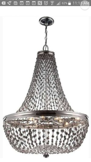Gorgeous Feiss Malia Chandelier in Polished Nickel for Sale in Costa Mesa, CA