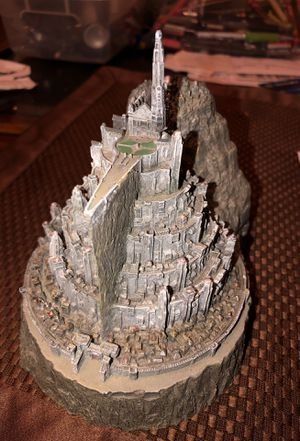 Lord of The Rings Minas Tirith Capital of Gondor Model Statue Figure Ashtray for Sale in Chicago, IL