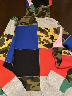 Bape Patchwork Full Zip Hoodie for Sale in Arlington,  VA