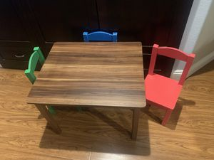 Kids table and chairs for Sale in Corona, CA