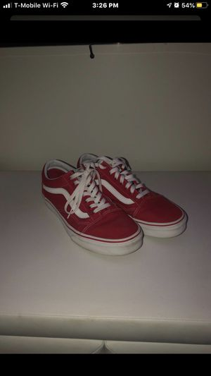 Red lace up vans size 10.5 for Sale in Monroe, OH