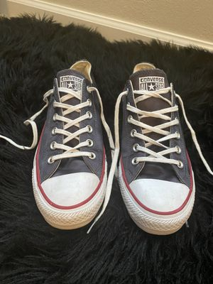 Black satin converse all star for Sale in Collinsville, IL