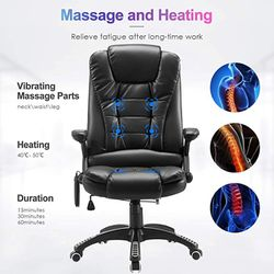 Massage Office Chair, Kealive PU Leather High Back Executive Chair, Adjustable Tilt Angle Reclining Swivel Chair with Padding  and Ergonomic Design f for Sale in Maywood,  CA