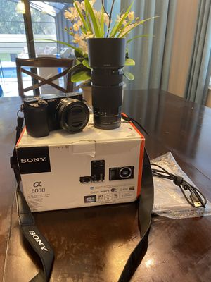 Sony A6000 w/16-50mm and 55-210mm lenses for Sale in Sanford, FL
