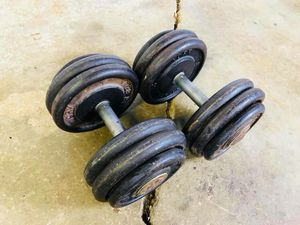 Dumbbells - 50lbs - Weights - Bench Press - Gym Equipment for Sale in Woodridge, IL