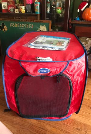 Pop open pop up foldable dog pet kennel house pen for Sale in Chicago Heights, IL