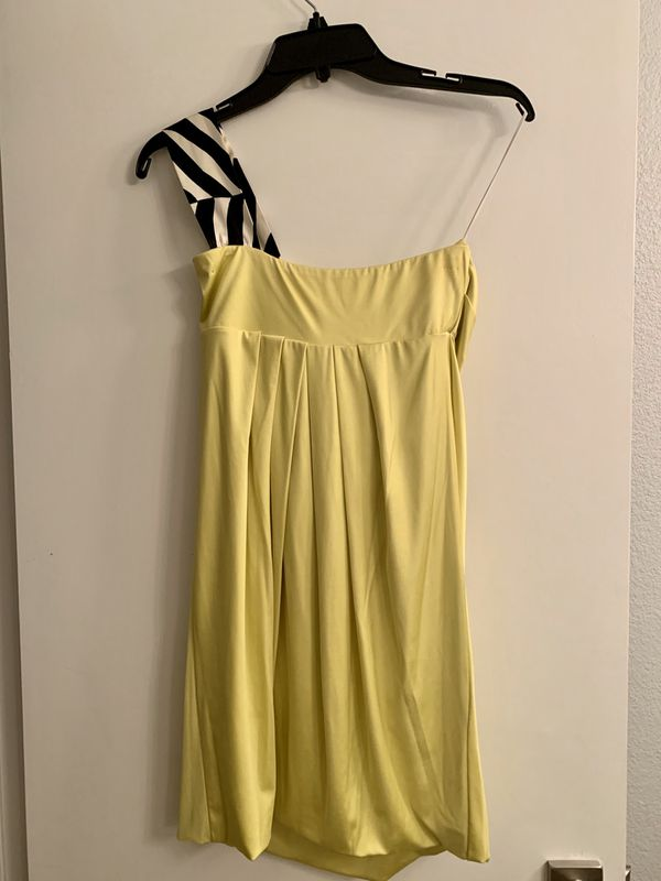 Women's IODICE Yellow One Shoulder Ruched Dress