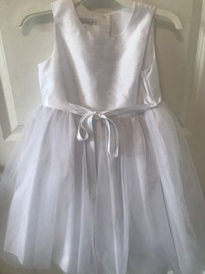 Flower girl, formal white dress size 6 girls for Sale in Houston, TX
