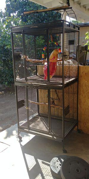 Double bird cage for Sale in San Bernardino, CA