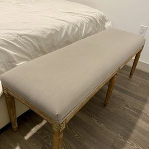 Chic Grey Bench With Floral Carving for Sale in Miami, FL