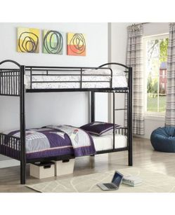 ACME Cayelynn Twin/Twin Bunk Bed - 37385BK - Black for Sale in Pomona,  CA