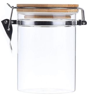 NEW Glass Storage Jar,Coffee Bean & Kitchen food Container With Clamp Airtight wood Lid (29-Ounce) for Sale in San Dimas, CA