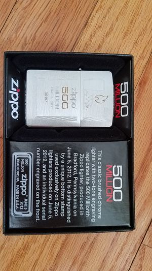 Zippo brushed chrome 500 millions 28412 for Sale in Los Angeles, CA