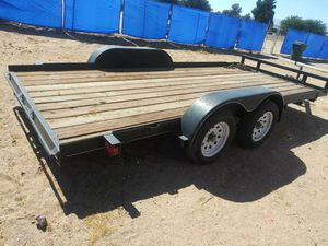 Single CAR/UTILITY. TRAILER. Double AXLES. Just like new. New wood new tires. for Sale in Ontario, CA
