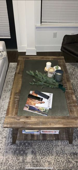 Reclaimed Wood Coffee Table with Galvanized Top for Sale in Nashville, TN