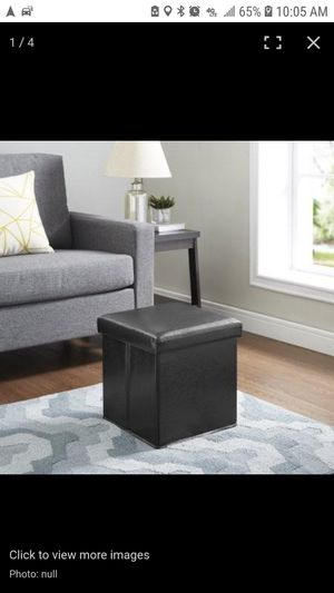 Mainstays Collapsible Storage Ottoman - Black for Sale in Mesa, AZ