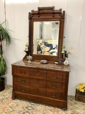 Antique Eastlake Wood Carved Marble Top Dresser for Sale in Boynton Beach, FL