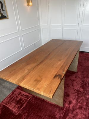 MIDCENTURY MODERN WOOD and BRASS TABLE/DESK for Sale in West Hollywood, CA