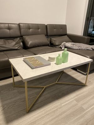 Marble/ Gold Coffee Table for Sale in Miami, FL
