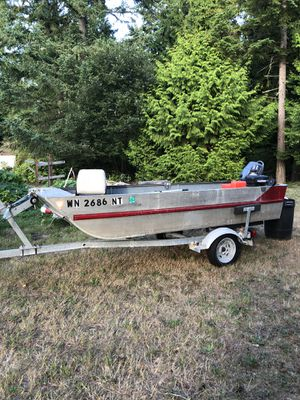 12' Hewes aluminum boat with trailer for Sale in Port Hadlock, WA