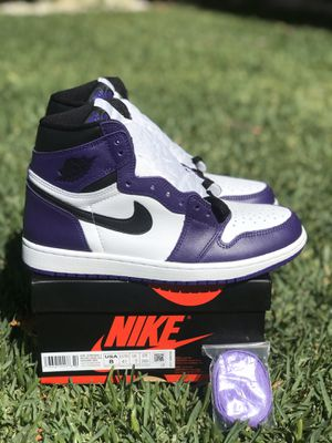 Brand New Jordan 1 Court Purple Size 8 for Sale in Fontana, CA