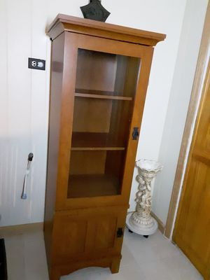 Tall cabinet wood for Sale in SOUTH SUBURBN, IL