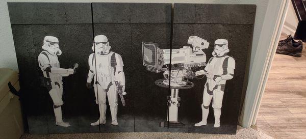 """Star Wars Art 48.75"""" x 30"""""""