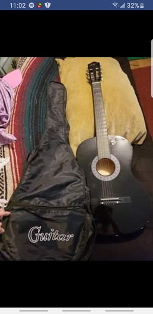 Black acoustic guitar for Sale in Atlanta, GA