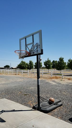 Basketball Hoop and Ball for Sale in Valley Home, CA