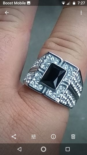 """Men's iced out """"black onyx"""" ring for Sale in Whittier, CA"""
